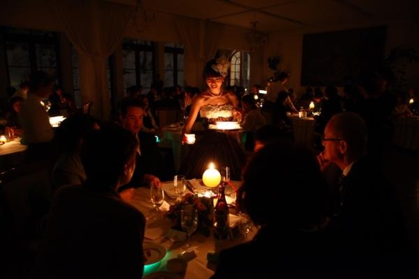 キャンドルサービス|ジャルダン・ドゥ・ボヌールのパーティー
