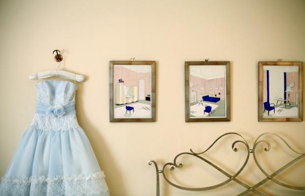 ブルーのカラードレス|グランマニエ