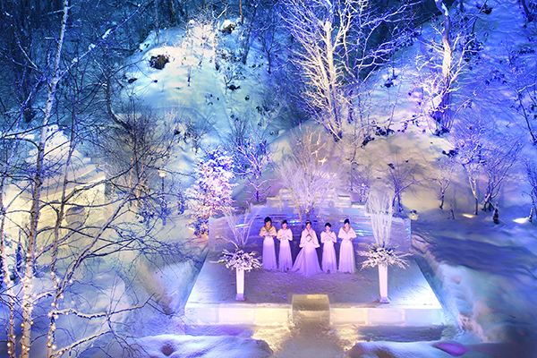 冬の結婚式|アイスバー|ジャルダンドゥボヌーッル