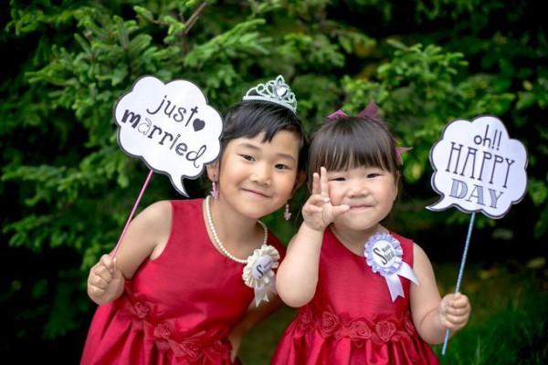 子供たちの結婚式|リングガール