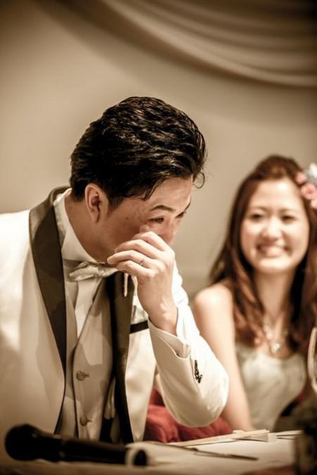 結婚式当日|新郎の涙