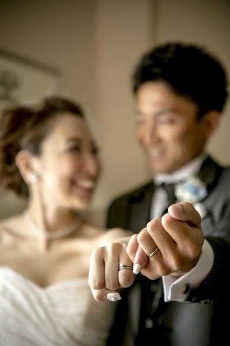 結婚式当日のふたり|ジャルダンドゥボヌール