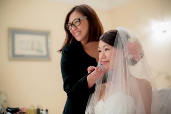 花嫁のヘアメイクリハーサル