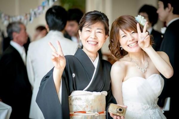 花嫁様とお母様