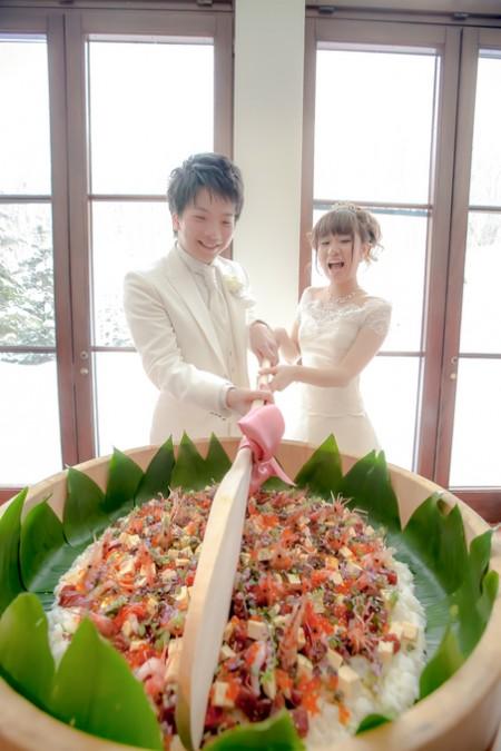 ちらし寿司|結婚式のファーストバイト