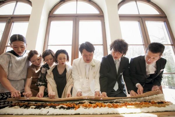 手巻き寿司|結婚式|ファーストバイト|ジャルダンドゥボヌール