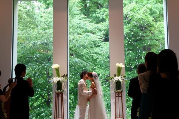新郎新婦|誓いのキス|結婚式