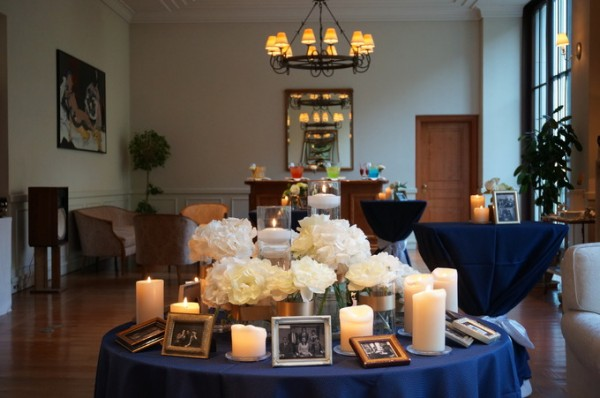 写真を使った結婚式のディスプレイ|ジャルダンドゥボヌール