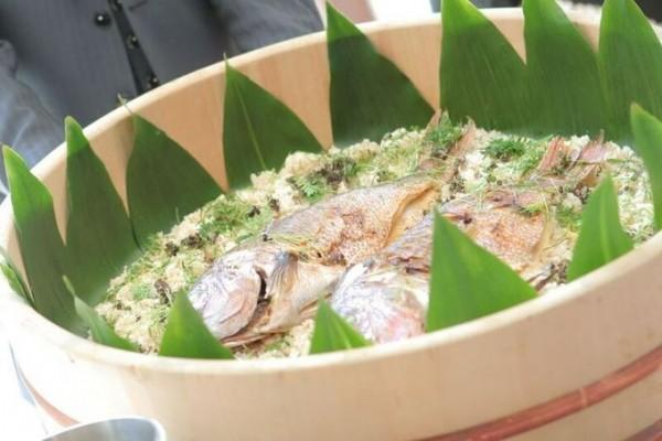 鯛めし|結婚式の料理|ジャルダンドゥボヌール