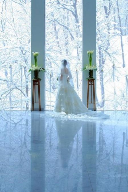 セレモニーホール|冬の結婚式|ジャルダンドゥボヌール