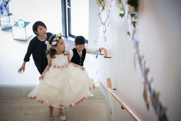 お子様が参列した結婚式|ジャルダンドゥボヌール