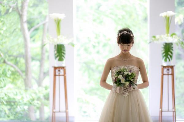 挙式前の花嫁様|ジャルダンドゥボヌール