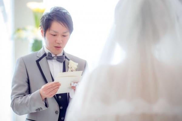 手紙を読む新郎様|結婚式当日|ジャルダンドゥボヌール