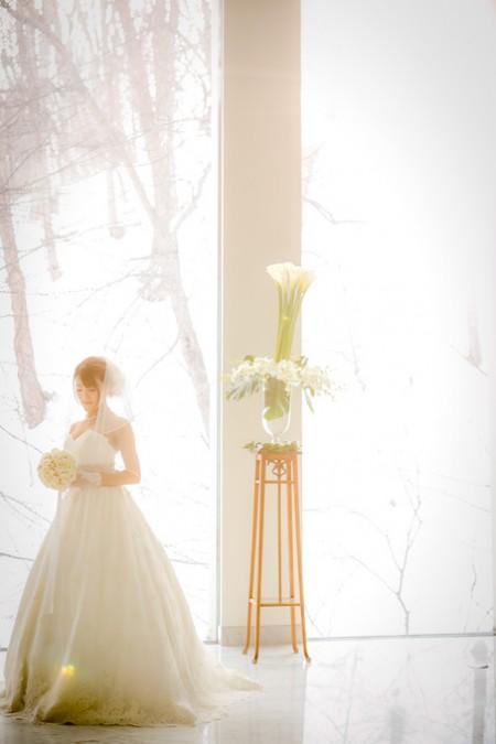 ウエディングドレス姿の花嫁様|ジャルダンドゥボヌール