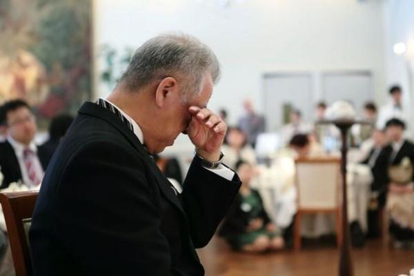 結婚式でのお父様|ジャルダンドゥボヌール