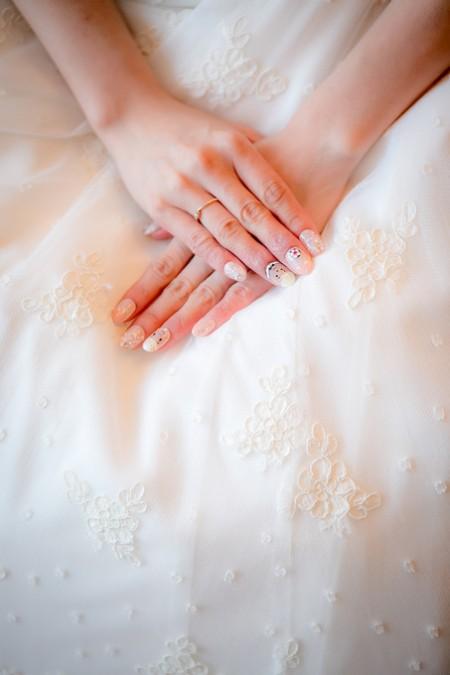 花嫁様の手