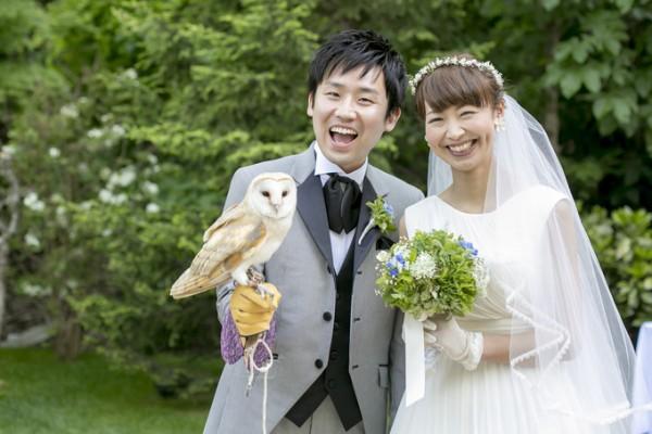 フクロウのいる結婚式|ジャルダンドゥボヌール
