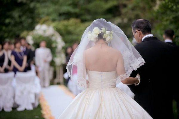 花嫁と父|ガーデンウエディング