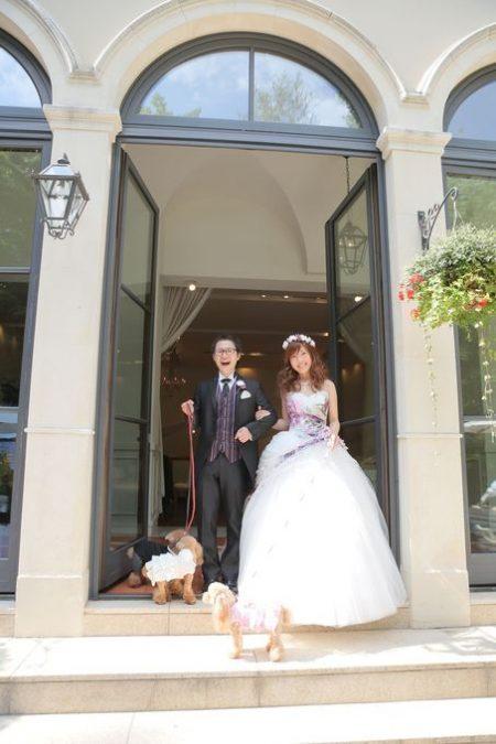 愛犬と結婚式