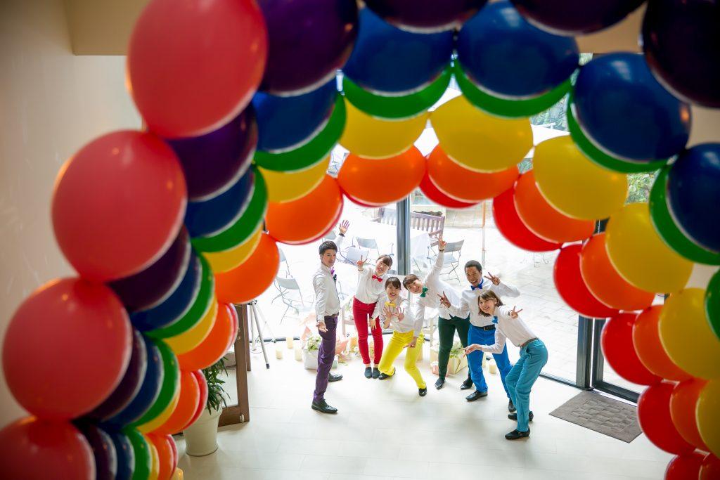 パーティのヒントは「虹」