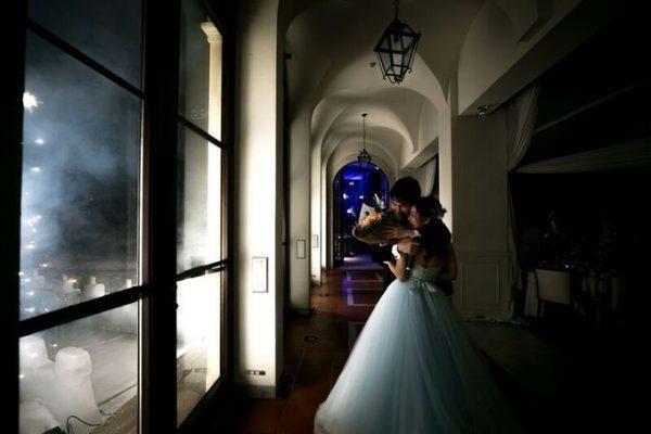 新郎新婦の二人|冬の結婚式|ジャルダンドゥボヌール