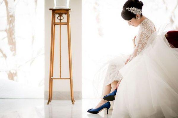 パンプスを履く花嫁様|ジャルダンドゥボヌール