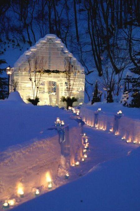 アイスバー|冬の結婚式|ジャルダンドゥボヌール