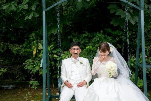 新郎新婦の二人|ガーデンウエディング